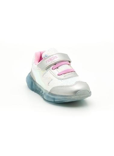Noxis Noxis Glow Işıklı Kız Çocuk Yürüyüş ve Spor Ayakkabısı Gümüş